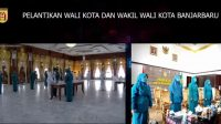 Aditya Mufti Ariffin dan Wartono Resmi Pimpin Banjarbaru