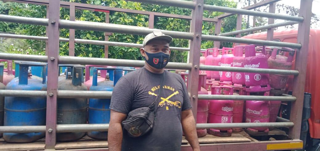 Distribusi Gas Terhambat karena Jalan di Sungai Tabuk Rusak