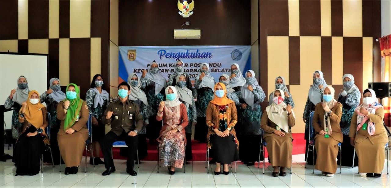 Pengukuhan Forum Kader Posyandu Kecamatan Banjarbaru Selatan