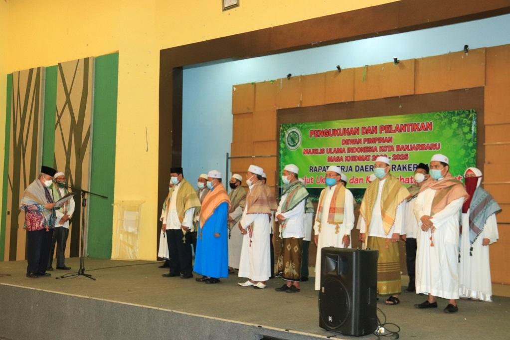 Pengukuhan dan Pelantikan Dewan Pimpinan MUI Kota Banjarbaru