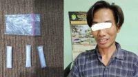 Lagi Bersantai di Warung, Icak Diciduk Bawa 3 Paket Sabu, Tim Operasional Polsek Banjarbaru Barat berhasil menciduk Ahmad (33)