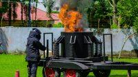 PLN Kalselteng Gandeng Polda Kalsel Gelar Simulasi Tanggap Darurat Teror Bom