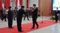 Pelantikan JPT Kadinsos dan Kadiskominfo Kota Banjarbaru