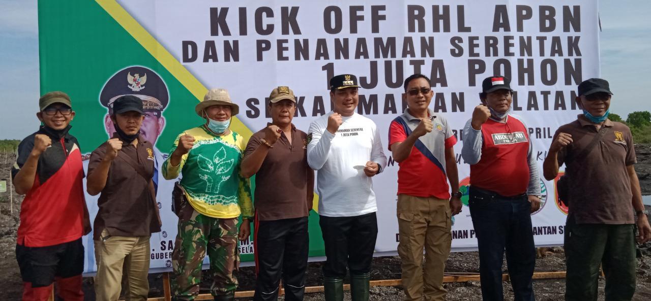 Penanaman Serentak 1 Juta Pohon di Lok Udat Banjarbaru