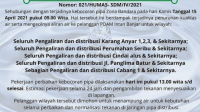 Terjadi Kebocoran Pipa Zona Bandara, Distribusi Air PDAM Intan Banjar Terganggu
