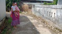 Jalan rusak di Gang Agrabudi, Jalan A Yani Km 24