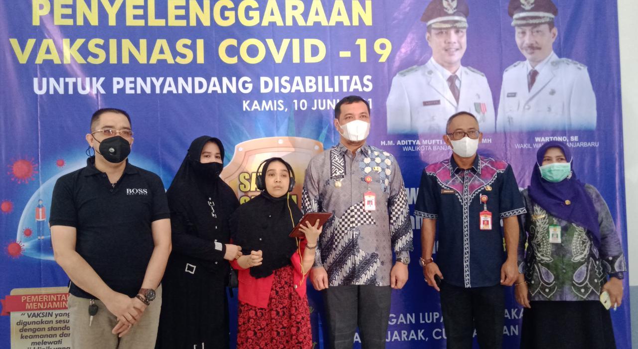 Banjarbaru Jadi Kota Pertama se Kalsel yang Vaksinasi Para Disabilitas