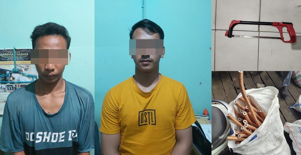 Dua Remaja Digelandang ke Polsek Banjarbaru Barat Usai Curi Kabel Tower