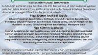 PDAM Intan Banjar Perbaiki Pipa 400mm Arah Sei Tabuk dan Pipa 500mm Syarkawi
