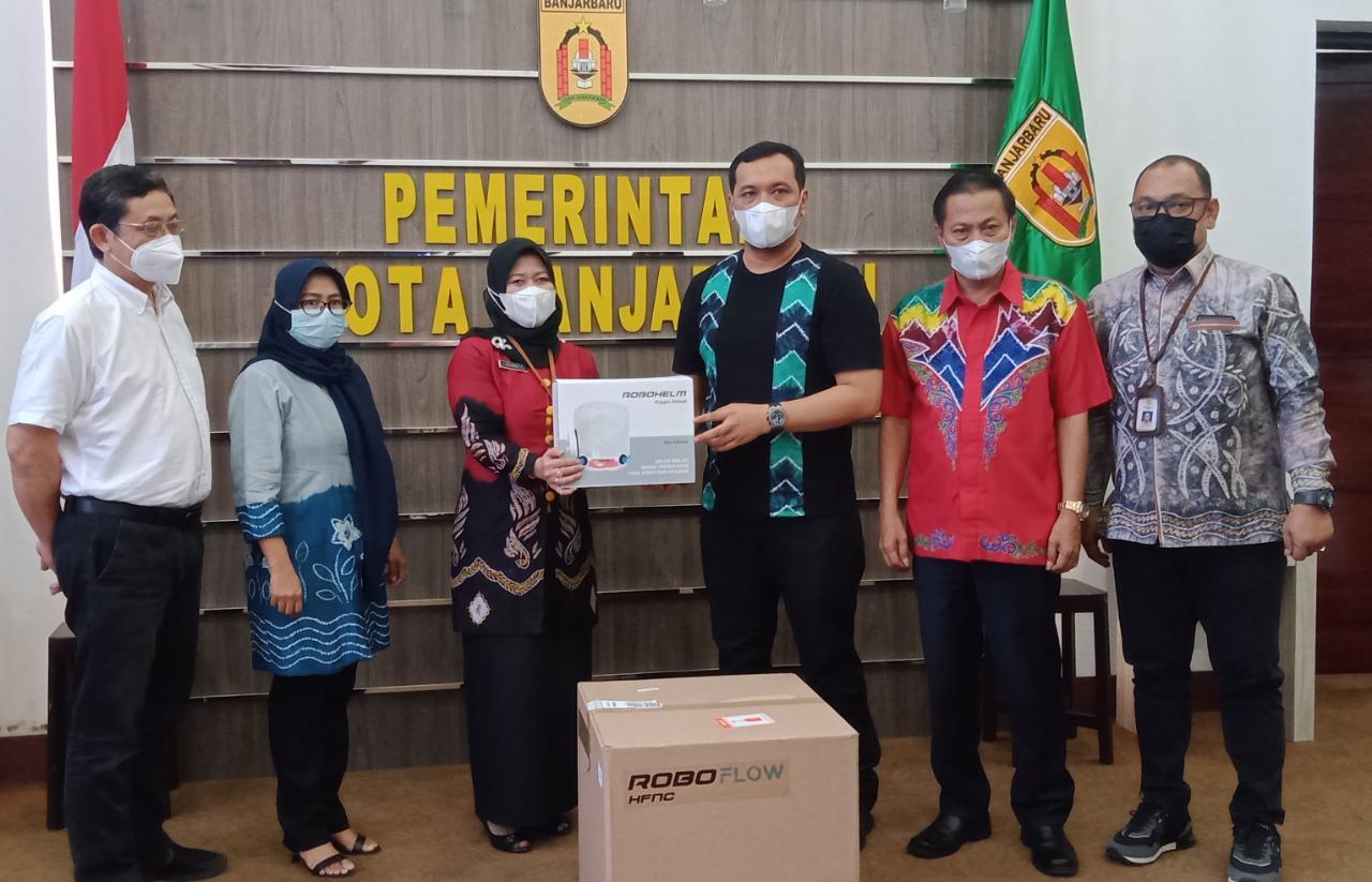RSDI Banjarbaru Terima Bantuan Helm Robo Flow dan HFNC untuk Pasien Covid-19
