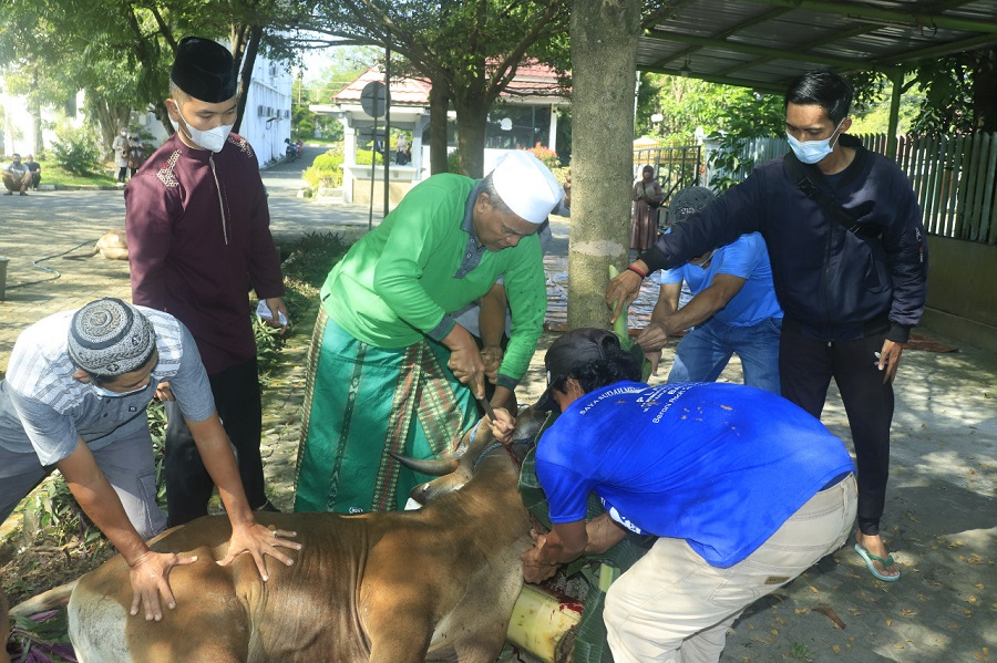 Walikota Banjarbaru Laksanakan Salat Idul Adha di Rumdin (2)