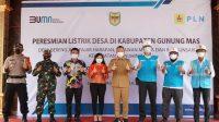 Akhirnya 4 Desa di Kabupaten Gudung Mas Bisa Menikmati Listrik