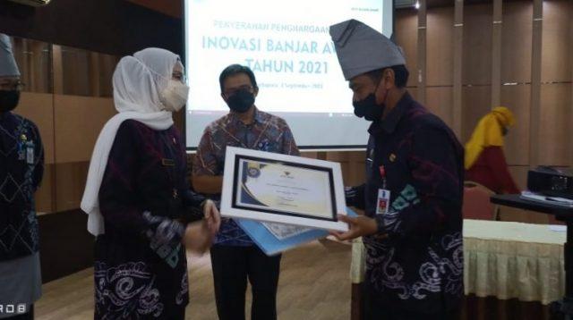 DKISP Kabupaten Banjar Raih Penghargaan Inovasi Terbanyak Tahun 2021