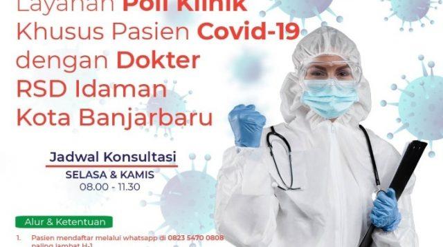 Mulai Hari Ini, RSDI Banjarbaru Buka Layanan Konsultasi Khusus Pasien Covid-19